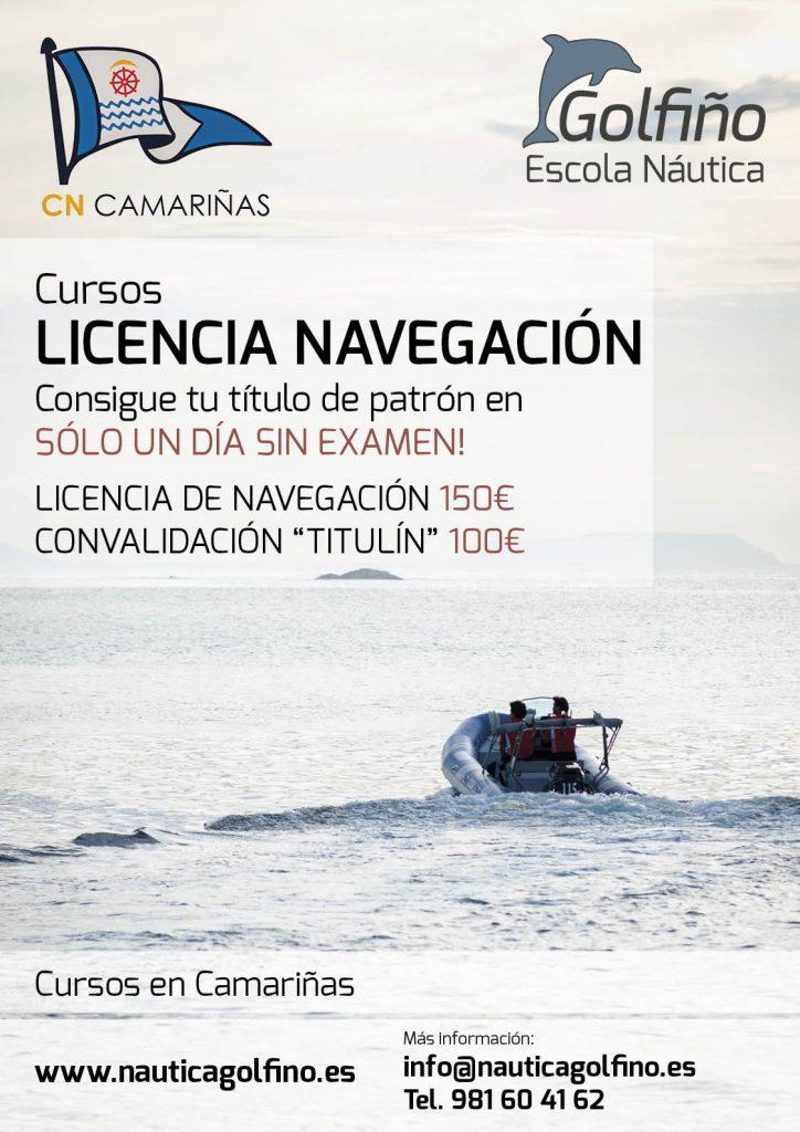 cartel cursos licencia navegacion nautico camarinas